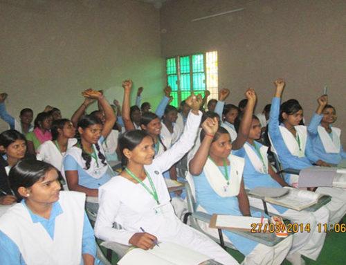 Teaching young Mijwan women